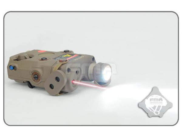 Upgrade Version Box LED White Light FMA PEQ-15 Red Laser Airsoft w//IR Lens N