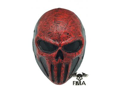 "FMA Halloween  Wire Mesh ""SKULL PUNISNER""  RED Mask  tb574  Free"