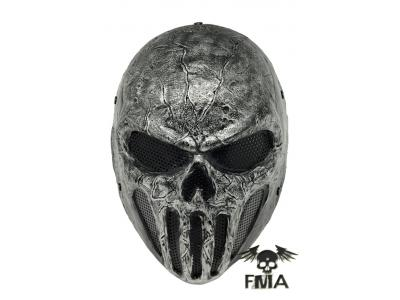 "FMA Halloween   Wire Mesh ""SKULL PUNISNER""  Gray Mask  tb577  Fr"