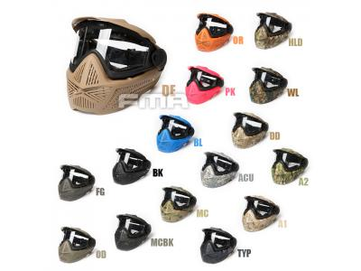 FMA F2 Full face mask with single layer BK/DE/FG/OD/BL/PK/TYP/WL/A1/A2/DD/MC/MCBK/OR/HLD FM-F0026