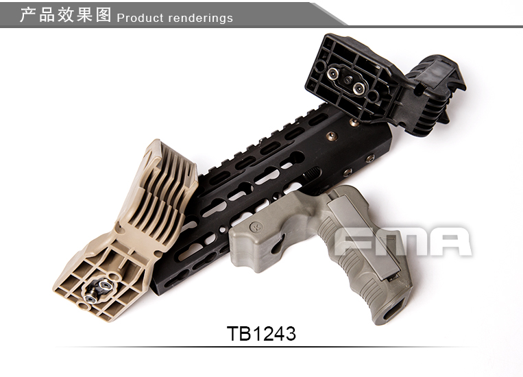 FMA MagWell And Grip For Kymod System TB1243-BK BK